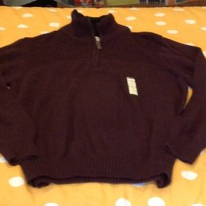 NWT burgundy marled Haggar sweater, medium.